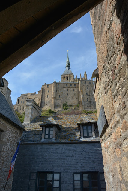 Abbey Mont Saint-Michel from city
