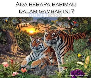 Ada Berapa Harimau dalam gambar di bawah ini?