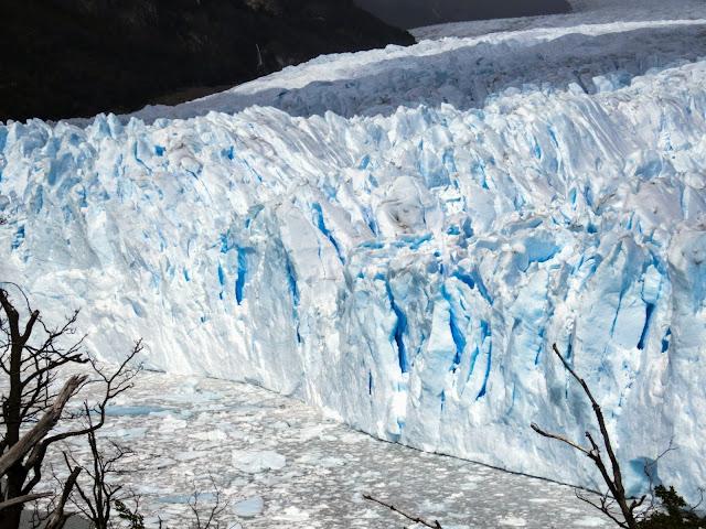 Blue ice of Perito Moreno Glacier near El Calafate Argentina