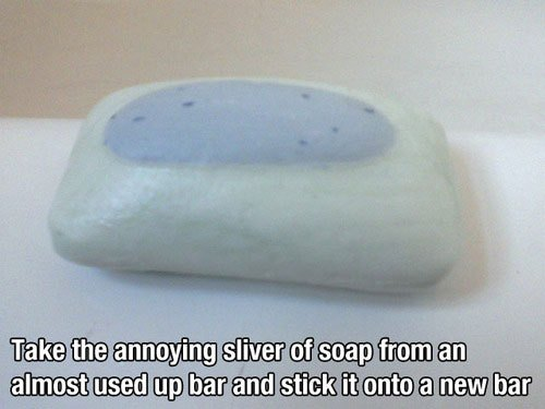 How to take the annoying silver on soaps