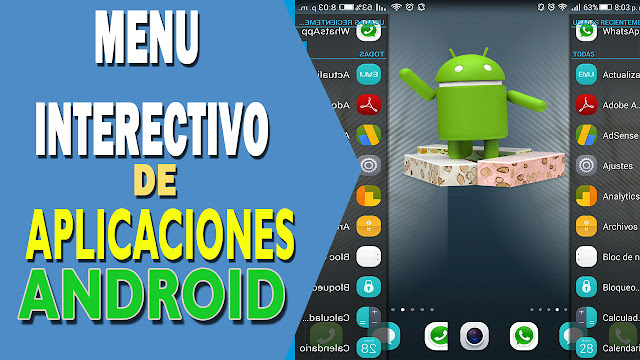 Como tener un menú interactivo Android con Swapps Pro