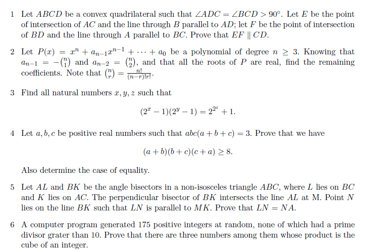 Maths olympiad question papers pdf