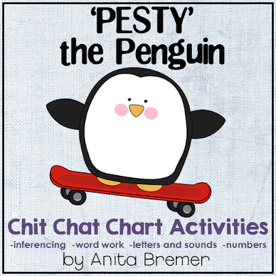 Pesty the Penguin messes up the Morning Message, and the students have to fix it. A fun activity that helps students practice so many literacy skills!