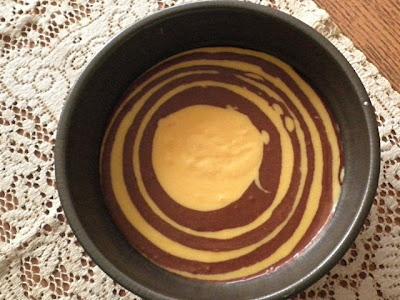 Eggless Marble Banana Cake Recipe  @ http://treatntrick.blogspot.com