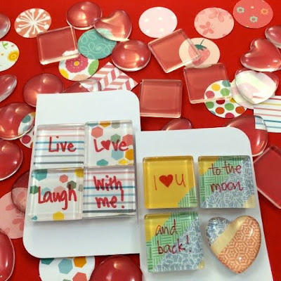 Glass Marble Magnets for Valentine's Day