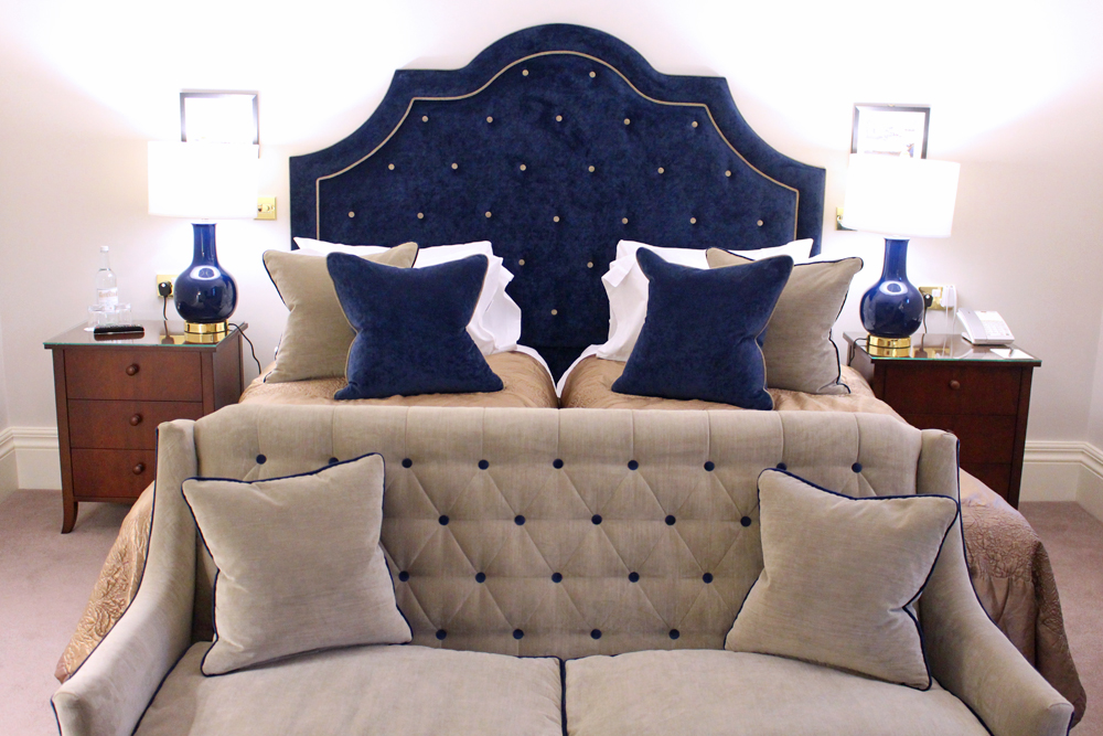 Twin bedroom at Rushton Hall, Northamptonshire - UK luxury travel blog