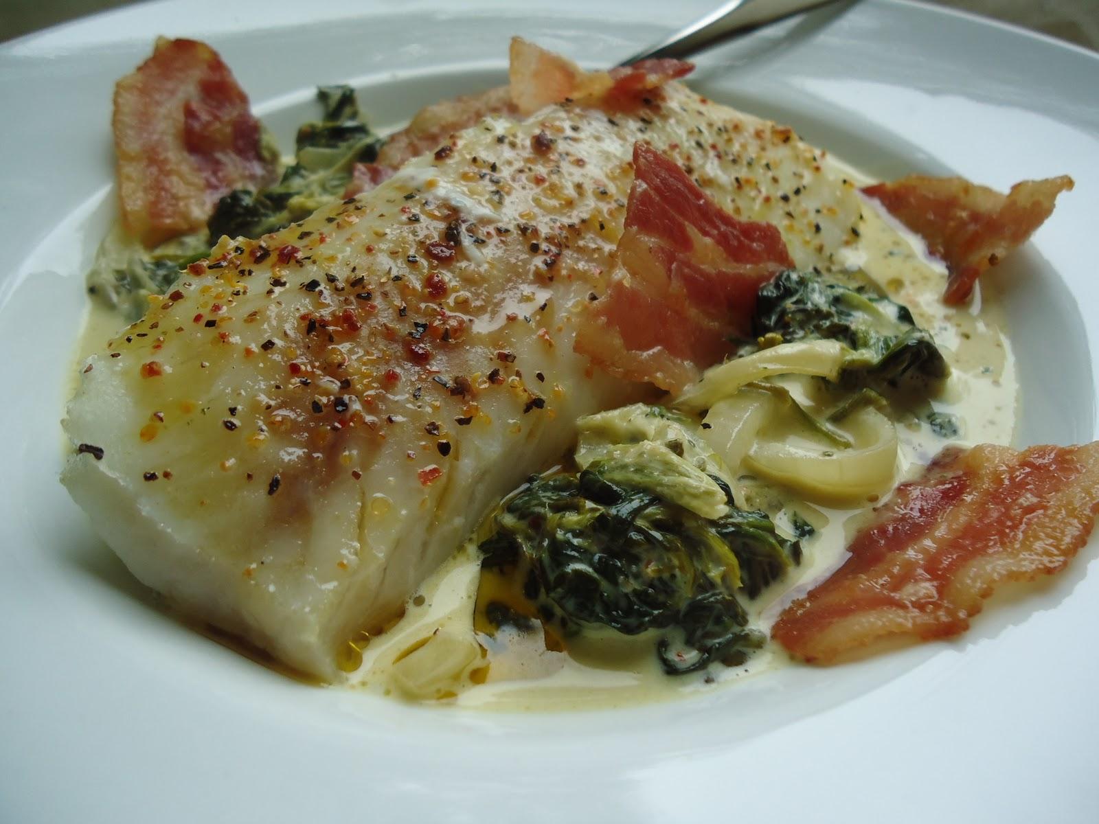 LCHF-bloggen: Torsk med spinat og bacon