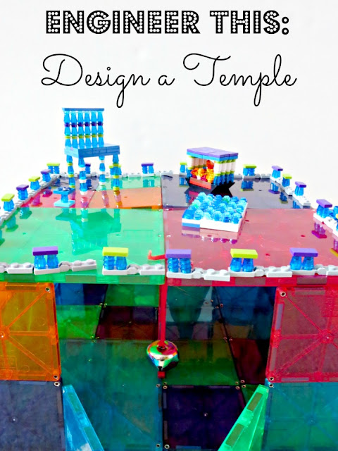 Fun STEM activity for kids - build a temple to their favorite ancient deity