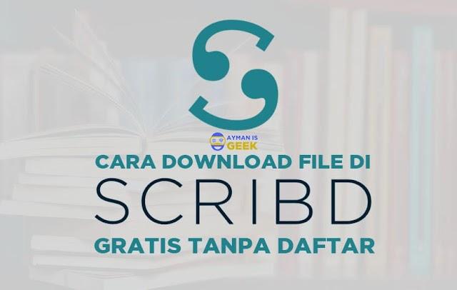 Cara Download File Gratis di Scribd tanpa daftar dan login