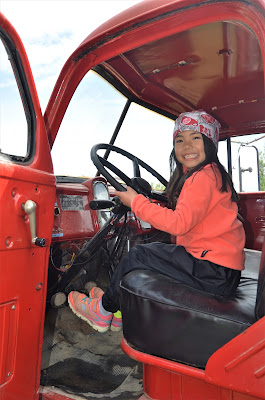 Sitting in the Fire Truck, Caroline Museum