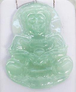 Genuine Myanmar green Buddha pendant