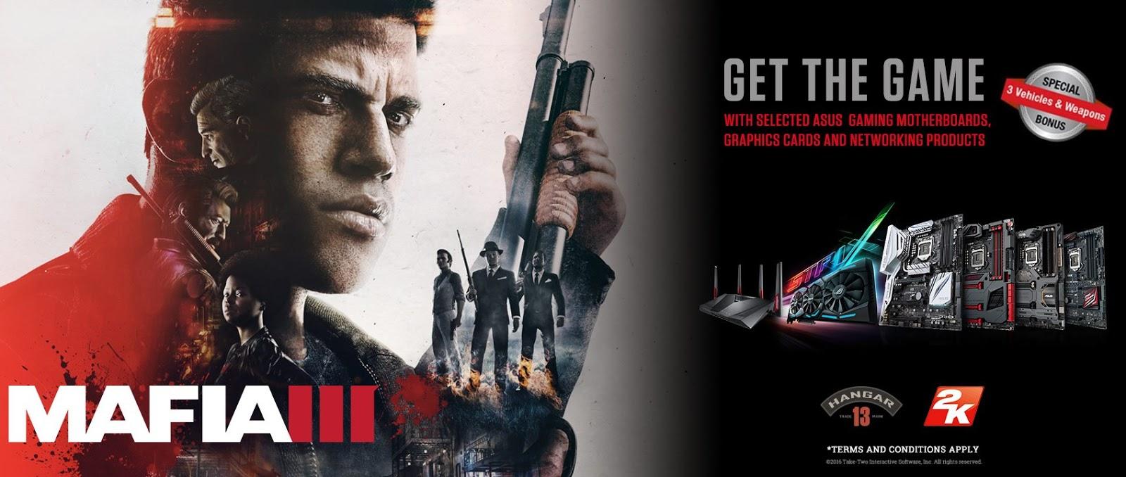 ASUS Republic of Gamers Announces Mafia III Game Bundles