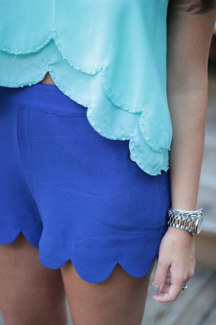 scallop shirt, scallop shorts, preppy scallop, scallop clothing, scallop blogger