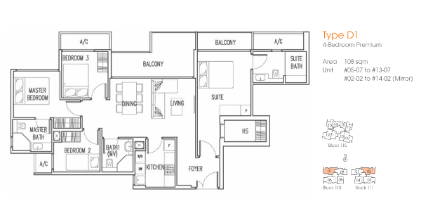 Trilive 4 Bedrooms Floor Plan