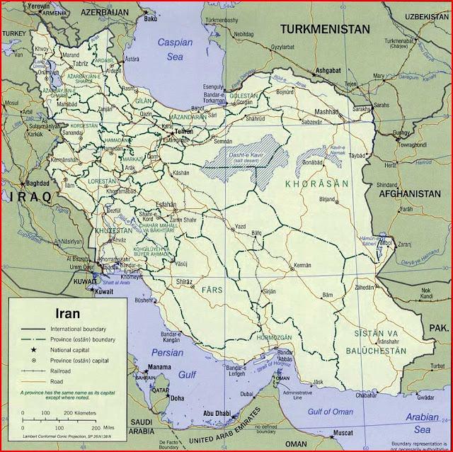 Gambar Peta politik Iran