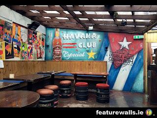 HAVANA CLUB ESPECIAL RUM 2 HAND PAINTED MURAL BY FEATUREWALLS.IE