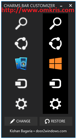 Cara merubah Icon Gambar Charms Bar Windows 8.1