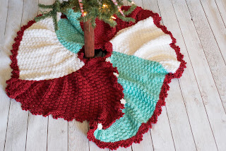 TriSquare Christmas Tree Skirt