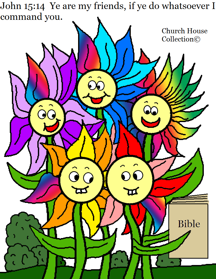 Church House Collection Blog Flower Family John 15 14 Coloring Page For Kids In Sunday School Spring Or Summer Coloring Pages For Church