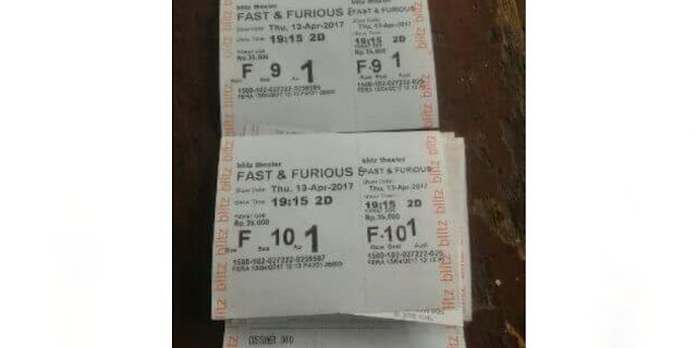 tiket fast and furious 8