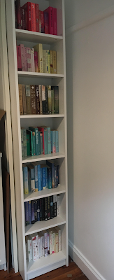 Rainbow Colour Coded Bookshelves