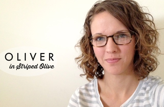 Warby Parker Prescription Glasses // oliver in striped olive