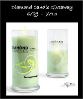 giveaway diamond candle