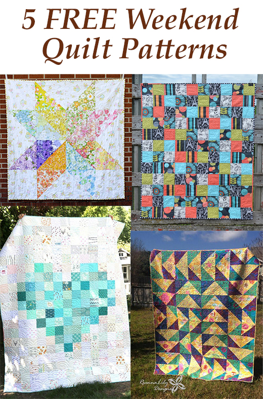 5 FREE Weekend Quilt Patterns