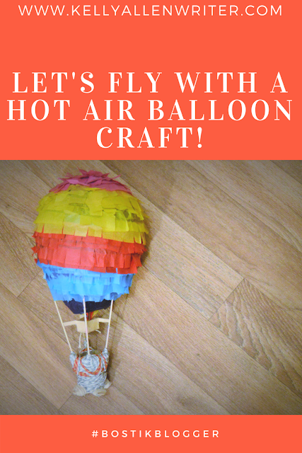 Pinterest pin with hot air balloon and title.