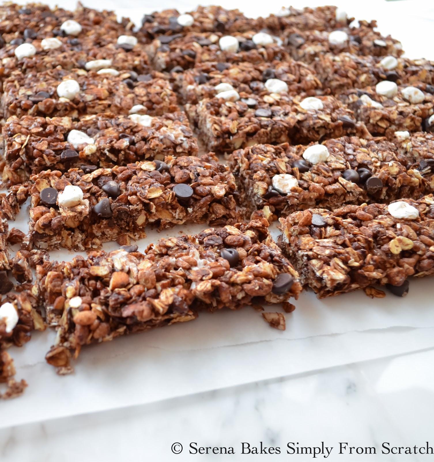 Gluten Free No Bake S'mores Granola Bars