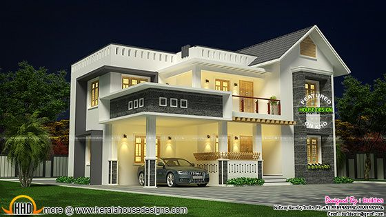 2223 square feet modern 4 BHK house