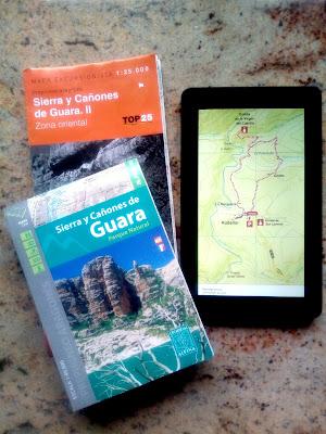 Mapas y tablet Senderismo Sierra de Guara