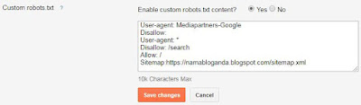 Cara Setting Robot.txt Blog - Mengatasi Masalah Blocked by Robots