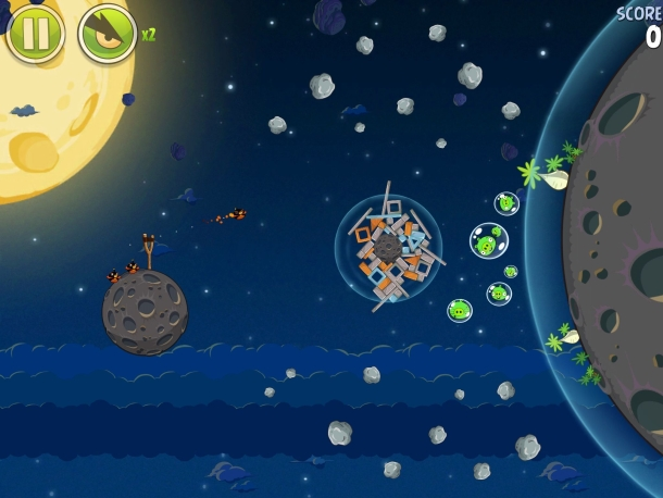 Angry Birds Space Screenshot