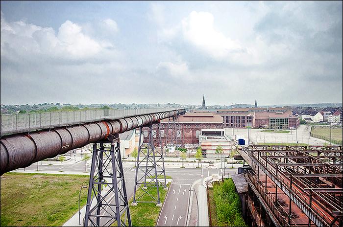 Skywalk Phönix West Dortmund, Hochofenbesteigung auf 80m Höhe, Stadtkernobst
