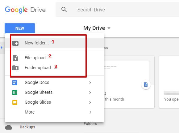Google Drive penyimpanan