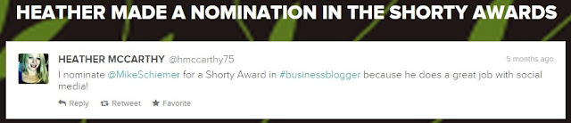 mike schiemer shorty awards finalist twitter business blogger