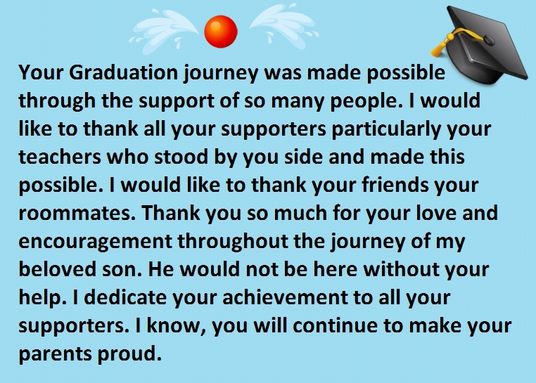 Graduation Congratulations Message