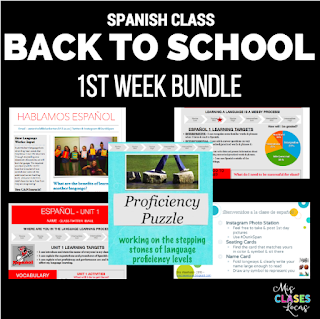 1st Week of Spanish class Bundle
