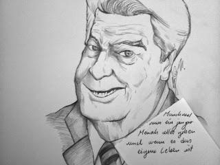 Christian Hildebrandt, Karikatur Joachim Gauck: Manchmal muss ein junger Mensch alles geben und wenn es das eigene Leben ist