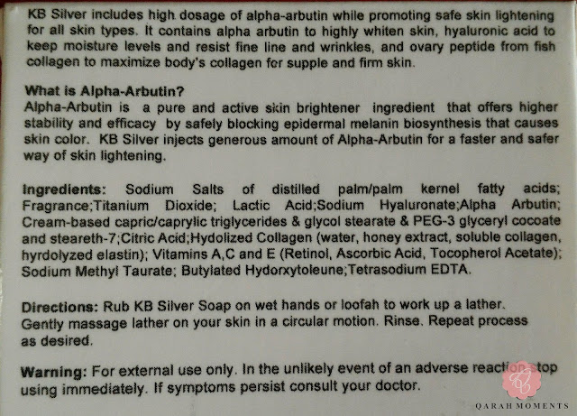 KB Alpha Arbutin SIlver Soap