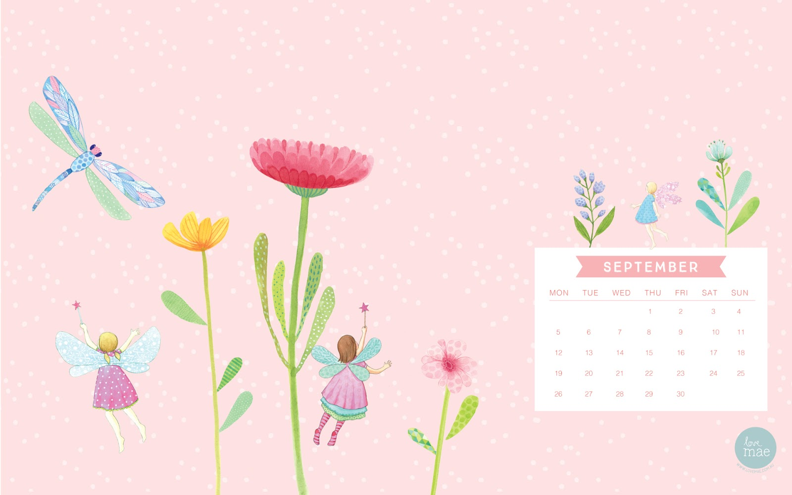 September Calendar Print   Desktop Wallpaper | Dawn Nicole Designs?