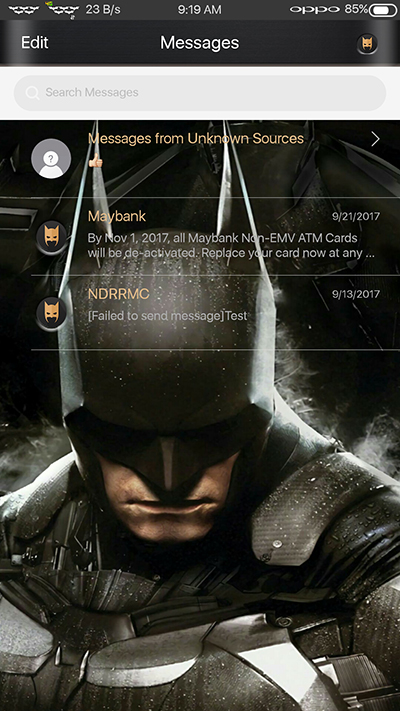 Oppo Theme: Oppo F3|F3 Plus Batman Theme