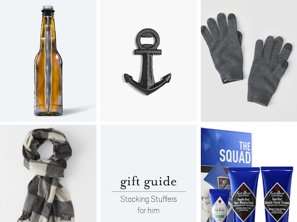 Gift Guide: Stocking Stuffers for Him