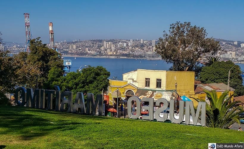 Letreiro do Museu Nacional Marítimo - O que fazer em Valparaíso em algumas horas