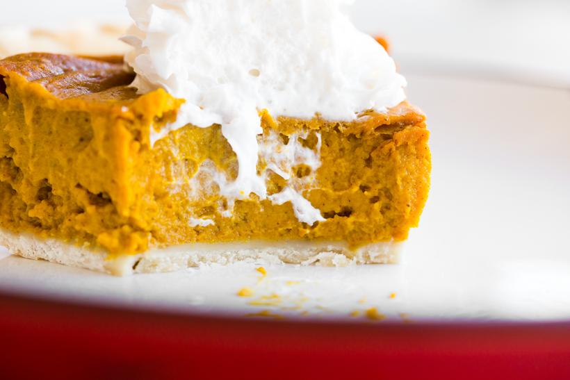 Simple Vegan Pumpkin Pie slice