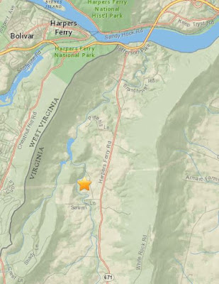 Map with location of magnitude 3.0 earthquake on January 17, 2016