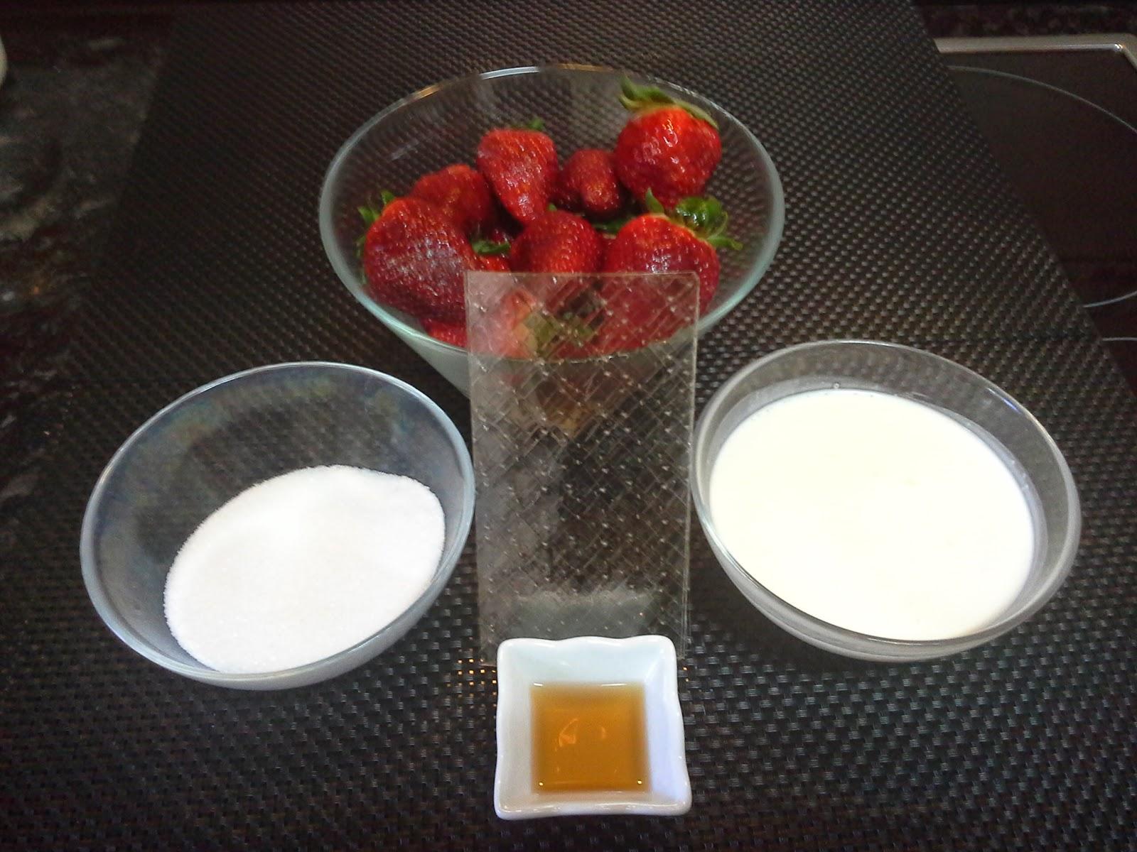 Bavaresa de fresas