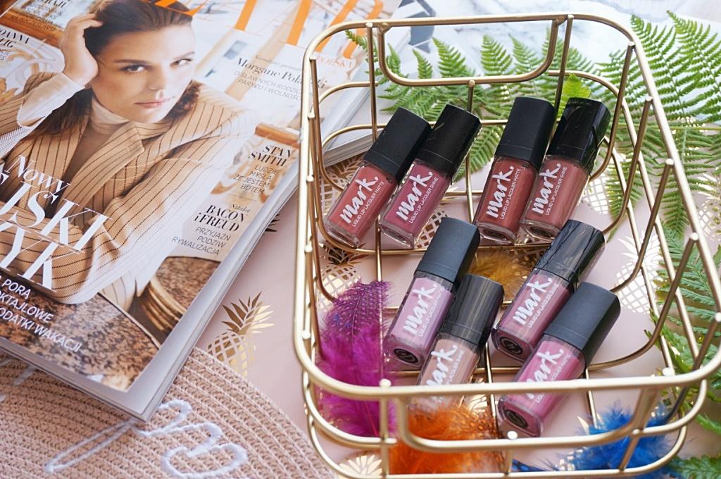 Avon Mark lip lacquer liquid matte matowe pomadki makijaż