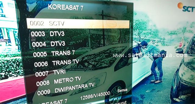 Channel Satelit Koreasat 7